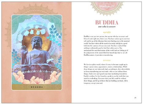 Embark on a path of awakening and self-discovery with this mystical deck from Sahara Rose and illustrator Danielle Noel.Steeped in the wisdom of the Vedas, this ancient yet visionary deck is a tool to access your yogic intuition. Each card represents aspects of the self, symbolized by sacred figures and concepts that are integral to yoga and Ayurveda. Illuminated by ethereal artwork, the cards provide insight into the present and guidance for the future, connecting you to your inner wisdom and u