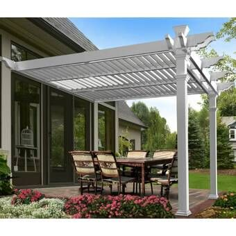 Lodge 14 5 Ft W X 15 Ft D Solid Wood Pergola Louvered Pergola Outdoor Pergola Aluminum Pergola