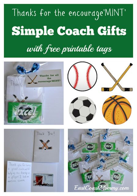 Simple Coach Thank You Gifts With Free Printable Tags Coach Gifts Soccer Coach Gifts Hockey Coach Gifts