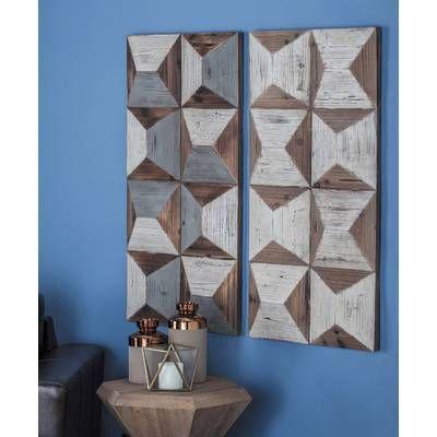 3 Piece Metal Wood Wall Decor Set In 2019 Living Room Wood