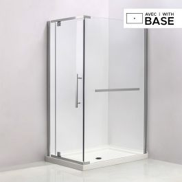32 X 48 Shower Kit With Door And Right Side Corner Base Shower
