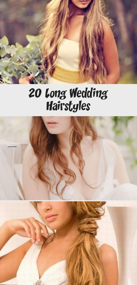 20 Long Wedding Hairstyles - HairStyles A loose hairstyle with soft waves brushed over from a subtle side parting and tucked behind the ear looks great when worn with an off-the-shoulder wedding gown. It also shows off a striking pair of earrings! $125 #weddinghairBob #Retroweddinghair #weddinghairTutorial #weddinghairWaves #Summerweddinghair<br> A loose hairstyle with soft waves brushed over from a subtle side parting and tucked behind the ear looks great when worn with an off-the-shoulder wedd