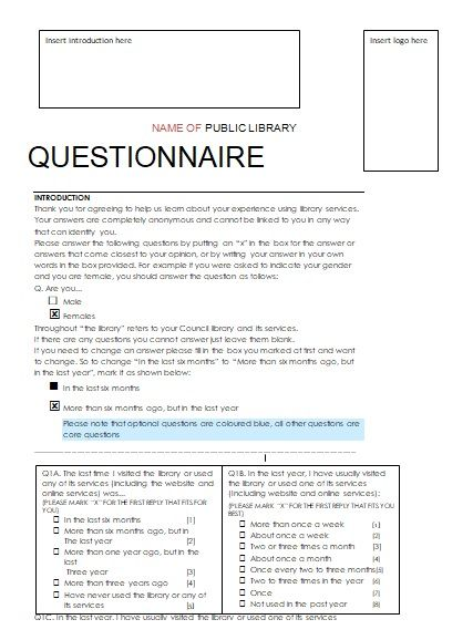 photo about Printable Survey Maker known as Questionnaire Study Templates 5+ Printable PDF, Excel