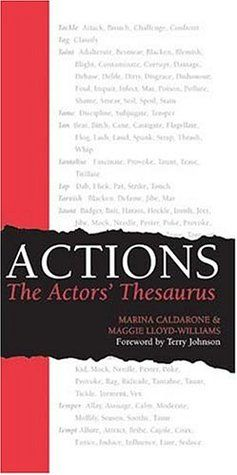 Pdf Download Actions The Actors Thesaurus By Marina Caldarone