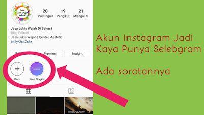 Cara Membuat Sorotan Dibawah Profil Instagram Iskandarnote Com Di 2020 Instagram Tahu Artis
