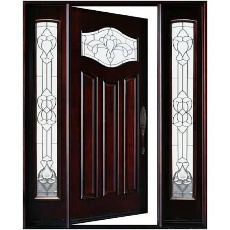 Love Love Love This Front Door But Not Wanting The Side Lite At All Found This On Houzz For 30 Solid Wood Front Door Wood Front Entry Doors Front Entry Doors