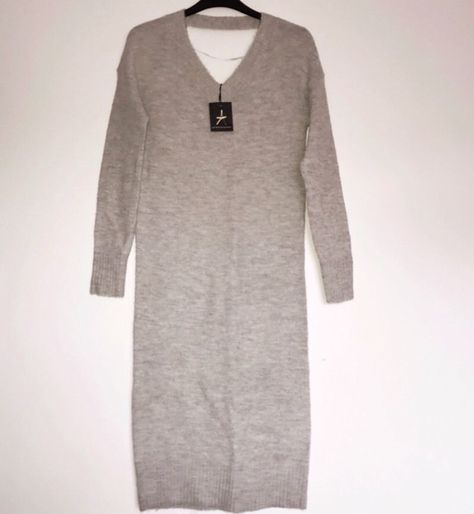 unbeatable price famous brand new collection ATMOSPHERE PRIMARK grey Long Jumper Dress MUST HAVE UK 6 ...