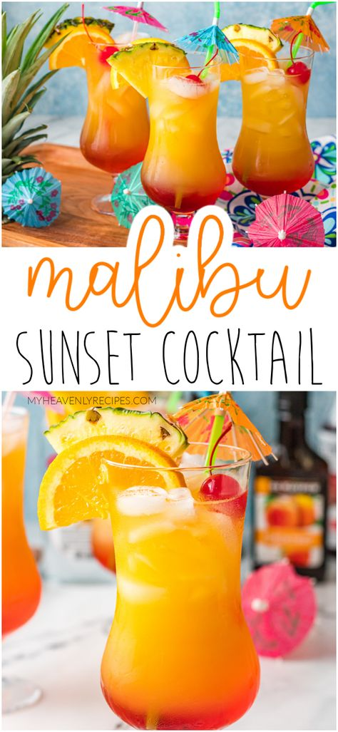 Malibu Sunset Cocktail Recipe