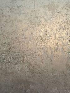 Tapete Designtapete Pergament Bruechig Schimmer Grau Stein Petrol