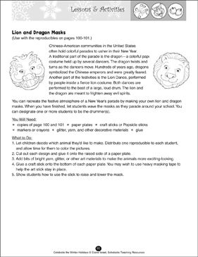 The Story Of Chinese New Year Printable Lesson Plans Ideas And Skills Sheets Printable Lesson Plans Newyear Lesson Plans