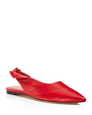 Belle by Sigerson Morrison Women's Sham Leather Slingback Flats Outlet Genuine With Paypal Sale Online Shop Really Cheap Shoes Online f2XBPanEC