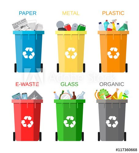 Waste Management Concept Waste Segregation Waste Management