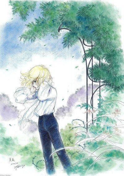 パステルで描かれた竹宮先生もお気に入りの1枚 夏嵐 横顔のジルベールは何を思う イラスト アニメ 王女 漫画イラスト