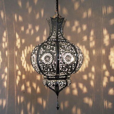 Orientalische Lampe Marokkanische Laterne Hangelampe Metall Yamina