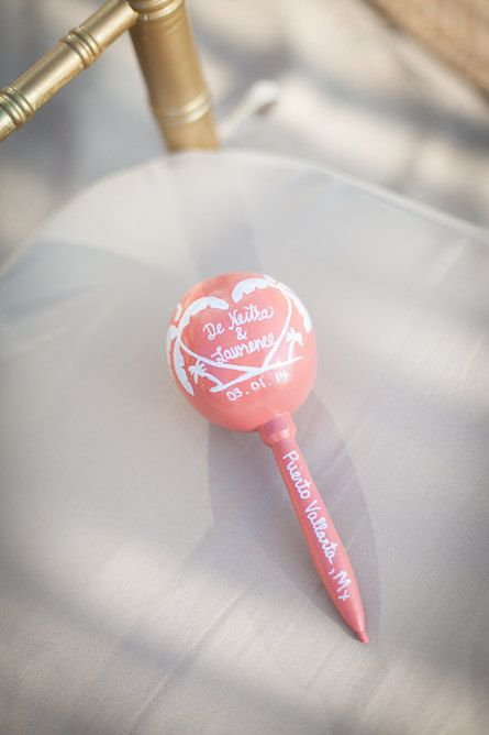Bridesmaid Proposal Maracas with tag Wedding Floral Design Wedding Party Favor Destination wedding Mexico Rifle paper french bridal shower