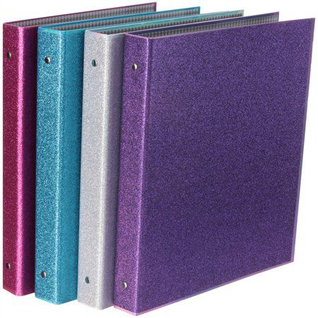 Purple Staples Better Binder 1 Inch Glitter