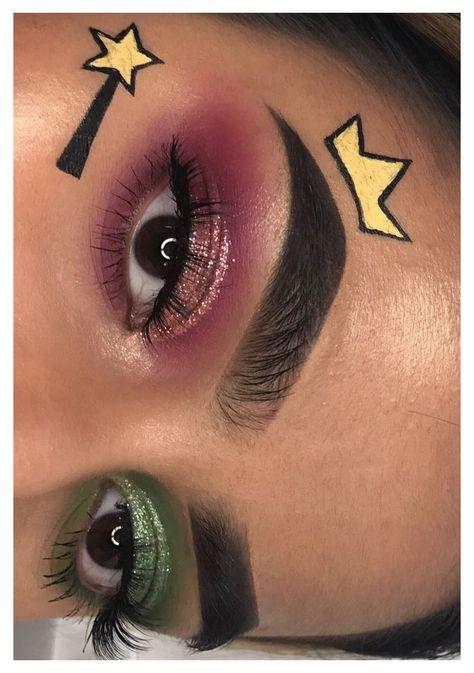 Makeup Eye Looks, Eye Makeup Art, Clown Makeup, Crazy Makeup, Eyeshadow Makeup, Eyeliner, Makeup Drawing, Eye Art, Prom Makeup