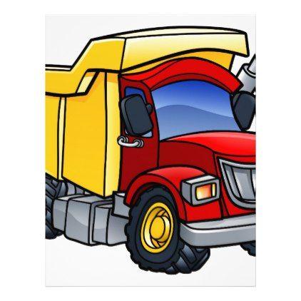 Dump Truck Tipper Cartoon Zazzle Com Custom Trucks Dump