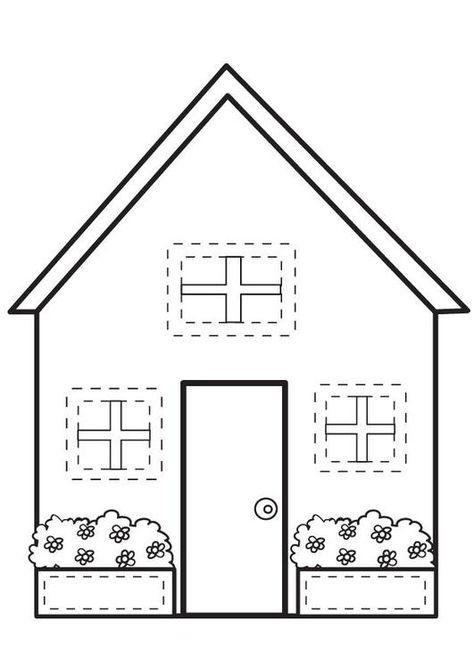 Kleurplaat Huis Afb 7095 New кукольные дома