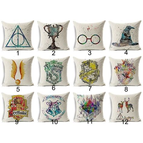 Harry Potter Cotton Cushion Cover Cartoon Comics Phoenix Magic Pillow Cover