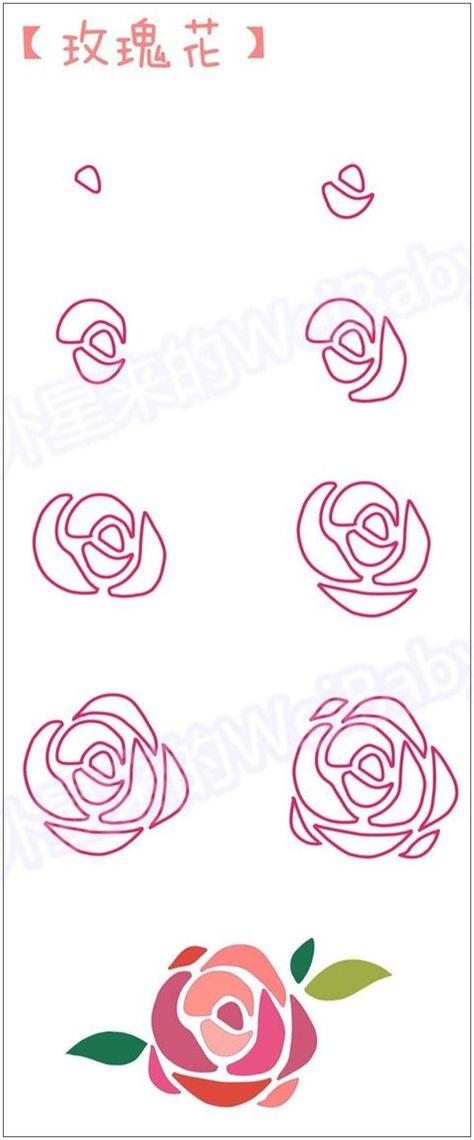 장미무료도안 찾느냐고 좀 힘듬 ㅠㅠ 네이버 블로그 플라워 네일 꽃 그리는 법 장미 그림