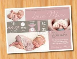 Babykarten.Ausgefallene Dankeskarten Baby Geburt 236 Bild Vergrossern