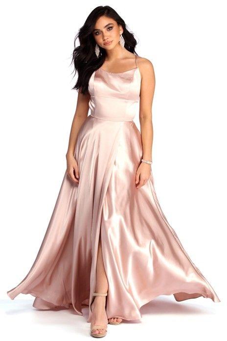 6ce8c2b3675 Aurelia Formal Satin Lattice Dress