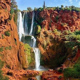 Ouzoud Waterfalls Are Located Near The Moyen Atlas Village Of