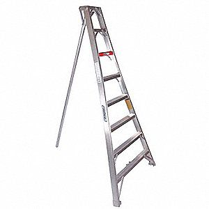 Tripod Ladder 12 Ft Aluminium Ladder Capacity Step Treads