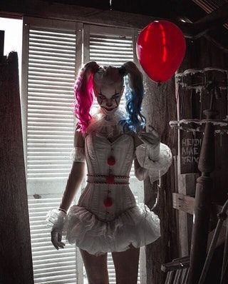 """IT""/Harley Quinn costume"