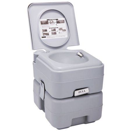 Jaxpety Portable Toliet 5 Gallon 20l Outdoor Camping Toilet Potty Cool Gray Walmart Com Camping Toilet Toilet Storage Tank
