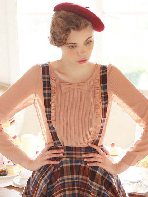 darling bow tie blouse