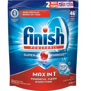 Finish Max In 1 Fresh Scent Dishwasher Detergent 48 Pack 51700