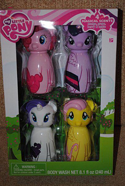 My Little Pony Rainbow Pinkie Rarity 4 Pc Body Wash Bobble Set