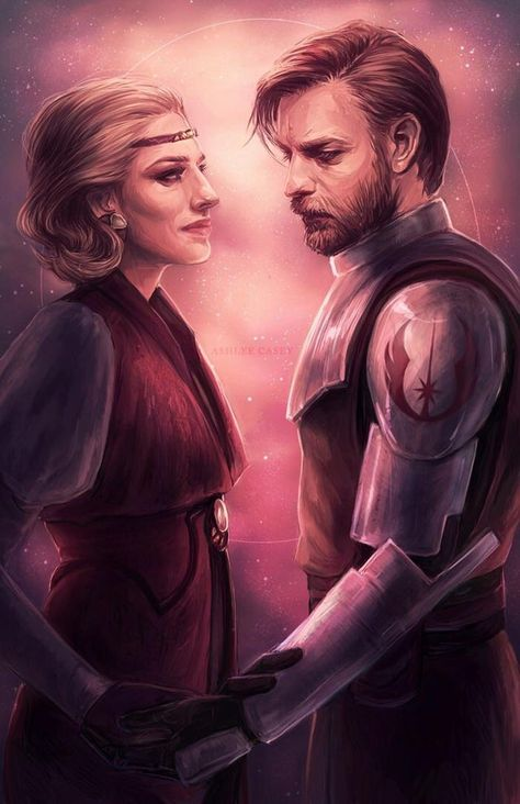 Obi-Wan and Satine by ashes-acedia