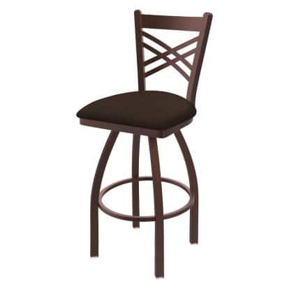 Holland Bar Stool Co Catalina Metal 36 In Extra Tall Swivel Bar Stool With Faux Leather Seat Bar Stools Swivel Bar Stools Swivel Counter Stools 36 seat height bar stools