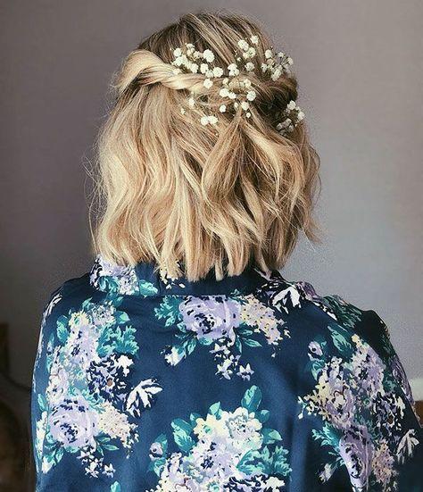 40+ Hochzeitsfrisuren für kurzes Haar #wedding hair short