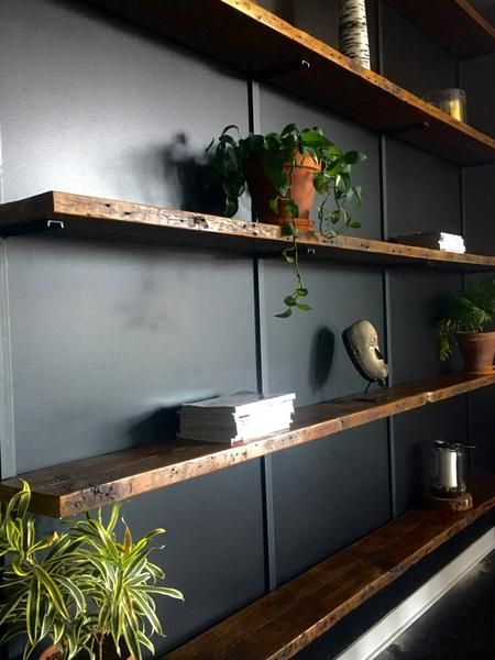 One Of Our Most Recognized Designs Is Our Large Wall Mounted Shelving Units We Love Them For S Wall Mounted Shelves Wall Mounted Shelving Unit Modern Shelving