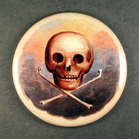 Odd Fellows Skull \ Crossbones Fridge Magnet - Freemasonry Masonic - schwarz weiße küche