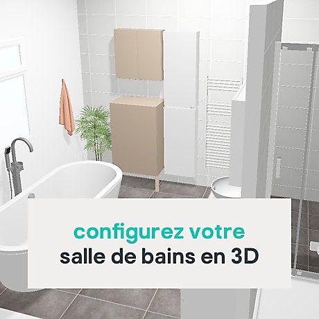Votre Projet Salle De Bains Castorama En 2020 Salle De Bain Castorama Salle De Bain Salle De Bain 3d