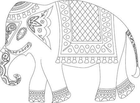 Elefante Indio Bordado Elefantes Bordados Disenos De Arte Bordados A Mano