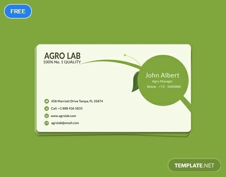 Agriculture Business Card Template Word Psd Apple Pages Illustrator Publisher Business Card Template Word Free Business Card Templates Business Card Psd Free