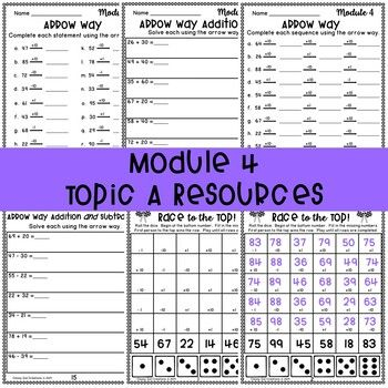 Eureka Math Second Grade Module 4 Arrow Way Addition And Subtraction Resources Eureka Math Math Addition And Subtraction Eureka math grade module worksheets