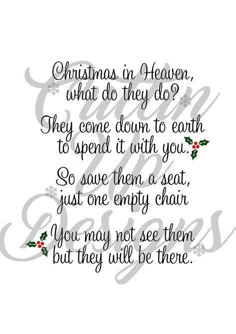Christmas In Heaven Poem Svg.Image Result For Christmas Heaven Free Svg Files For Cricut