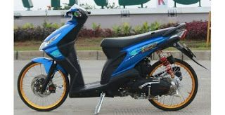 1 Modifikasi Motor Beat Karbu Warna Biru Di 2020 Motor Lowrider Biru