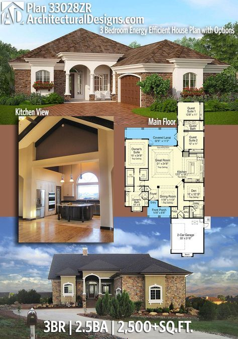 Plan 33028zr 3 Bedroom Energy Efficient House Plan With Options Energy Efficient House Plans House Plans Craftsman House Plans