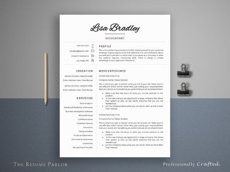 awesome Resume Template 4 Page Banker CV CreativeWork247 - Fonts - great resume fonts
