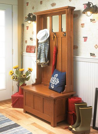High Back Hall Bench Woodworking Bench Plans Hall Bench Hallway Storage Bench