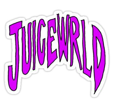 Juice Wrld Dripping Logo Sticker Logo Sticker Music Stickers Juice