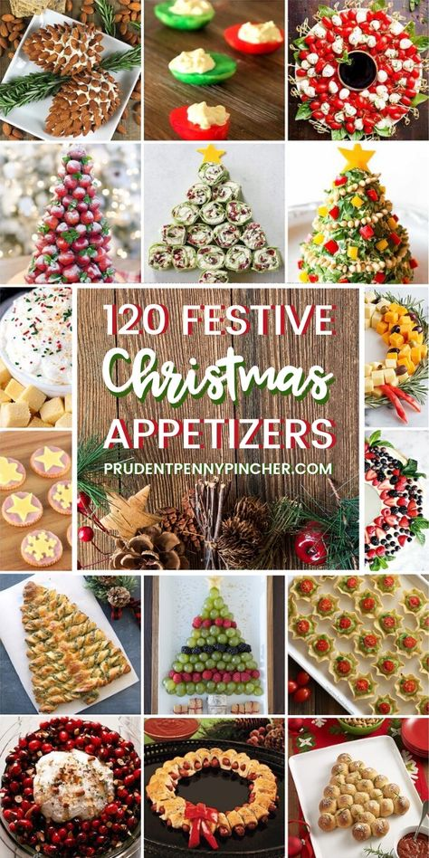 120 Festive Christmas Appetizers - Bring one of these creative appetizers to your Christmas party! These Christmas appetizers include dips, spreads, finger foods and much more. These Christmas party foods are perfect for feeding a crowd. #Christmas #Appetizers #AppetizersforParty #Recipes #ChristmasAppetizers #ChristmasParty #ChristmasFood #Party